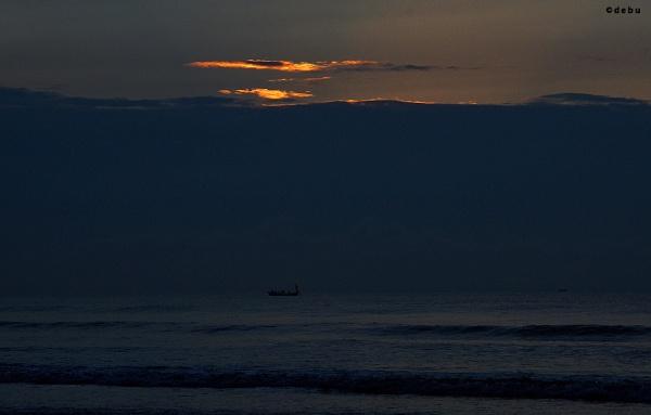 Fishing at Digha sea beach
