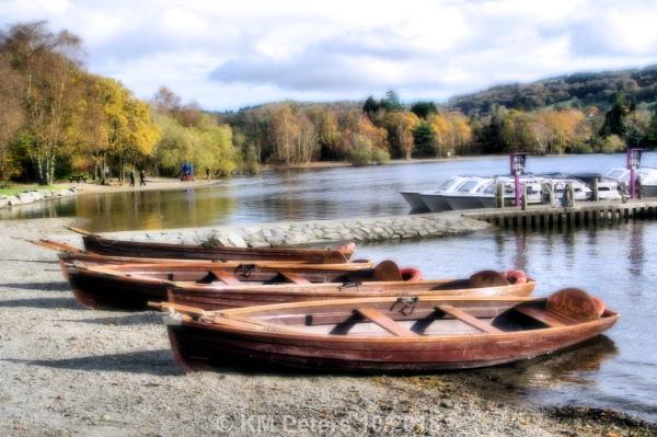 Row Boats Coniston Water by Hamlin
