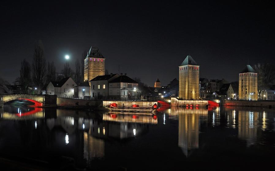 Night lights in Strasbourg
