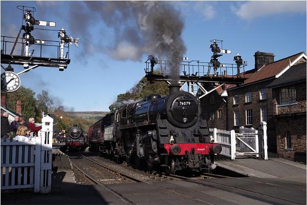 Leaving Grosmont Under Steam