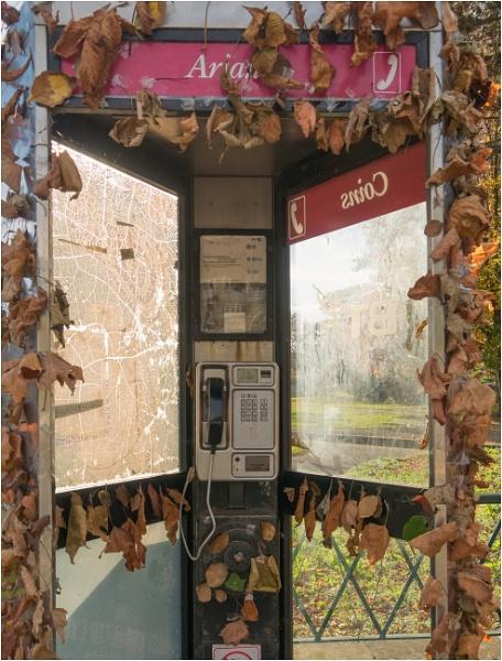 A phone box in autumn. by franken