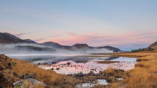 Misty Loch Droma by iainmacd