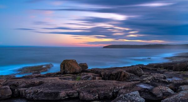 Dusk at Short Point, Merimbula, New South Wales by BobinAus