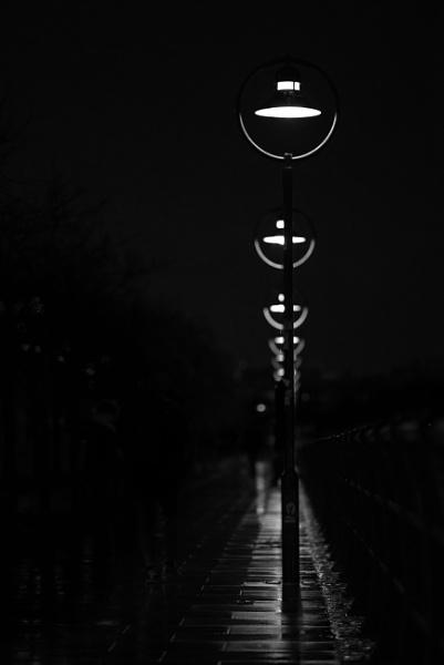 Dark wet walk by Derek897