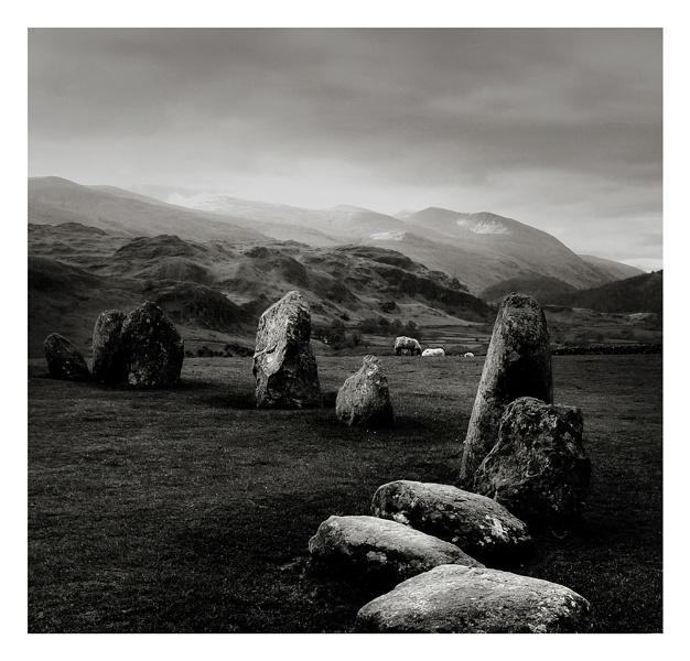 Stone Circle with Three Sheep