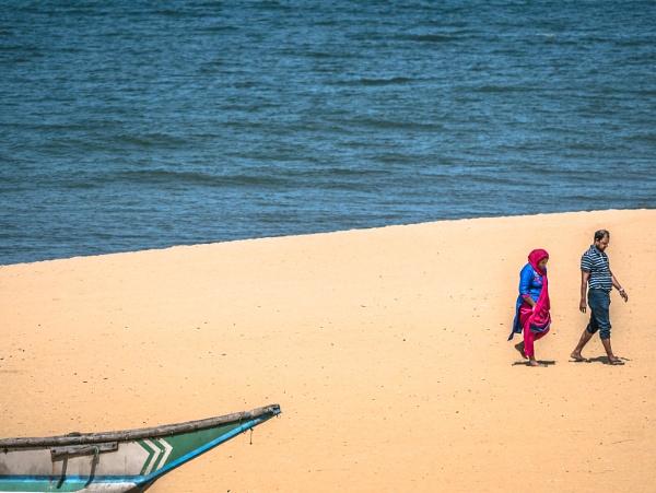 Sri Lanka, a stroll on the beach. by dgould