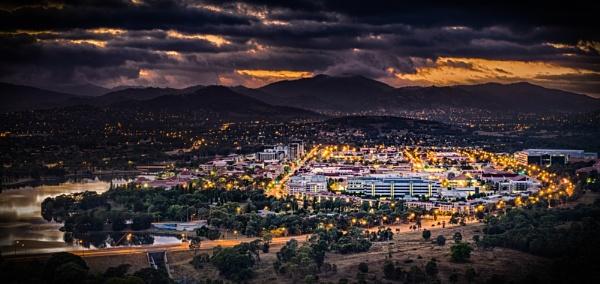 Bright Lights (not so) Big City, Tuggeranong, Australian Capital Territory by BobinAus