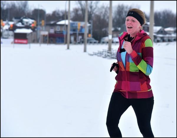 Running in the snow by djh698