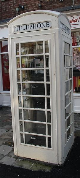 WHITE TELEPHONE BOX by SOUL7