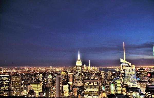 NYC at Night by PeterAS