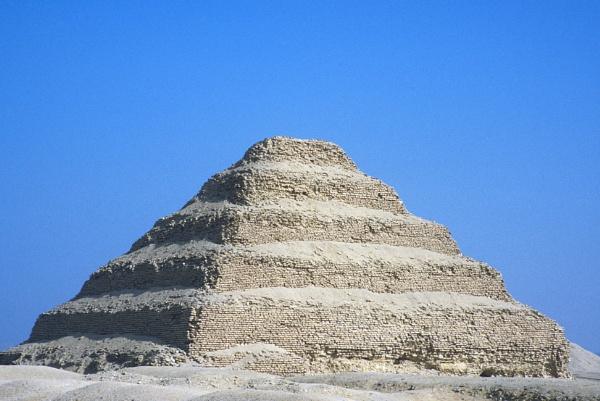 The Pyramid of Djoser or Step Pyramid, Near Cairo, Egypt, 1988, Fujichrome Velvia 100 by traveller47