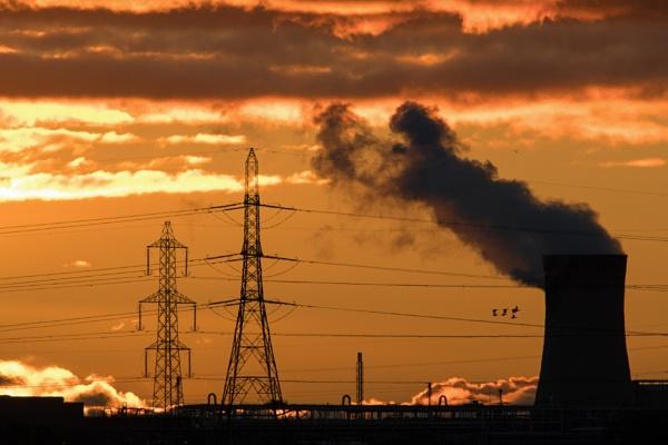 Teesside sunset by oldgreyheron