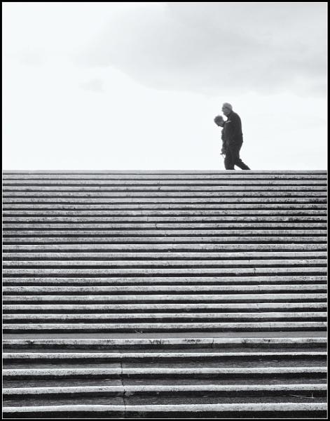 The white steps. by franken