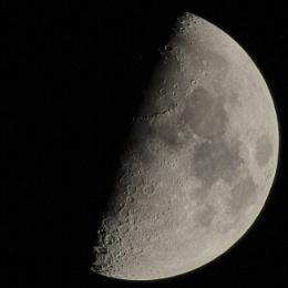 December Moon 55% over Galveston Island Texas