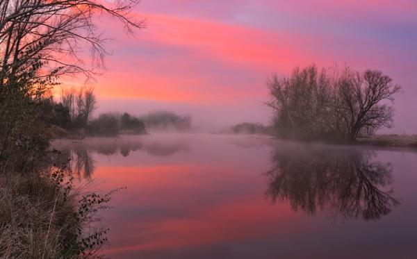 Winter Sunrise, Molonglo River, Canberra by BobinAus