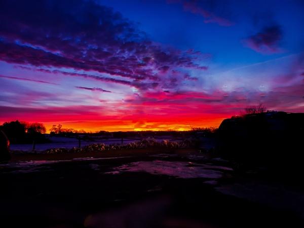 Winter Sunrise in Nebraska by Lfiorelli88