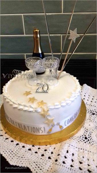 70th Birthday cake by pentaxpatty