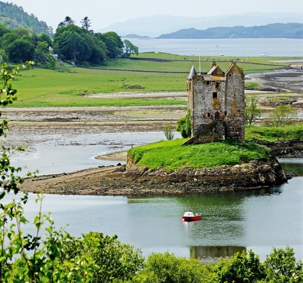 Castle Stalker, Port Appin, Argyll, Scotland by starckimages