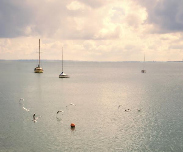 Yachts at anchor by MAK2