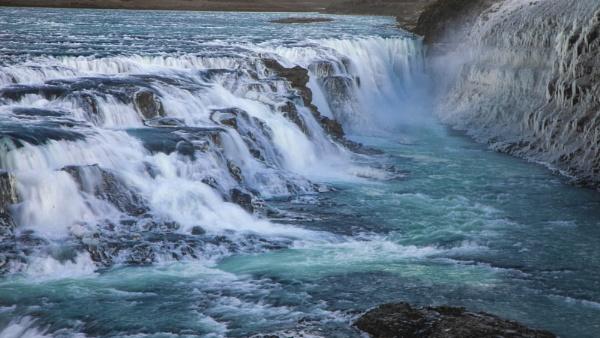 Gullfoss, Þingvellir National Park. Iceland by videocass