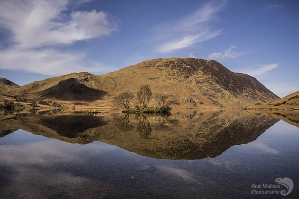 Crummock water reflections by Angi_Wallace