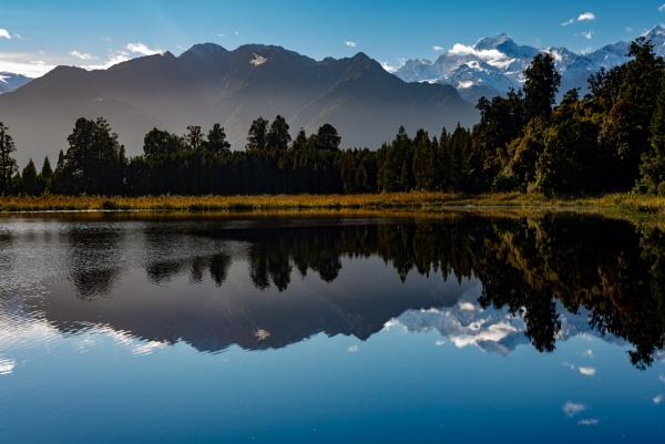Lake Matheson New Zealand by Stevefz