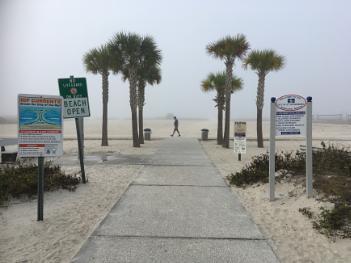 Caution,beach ahead