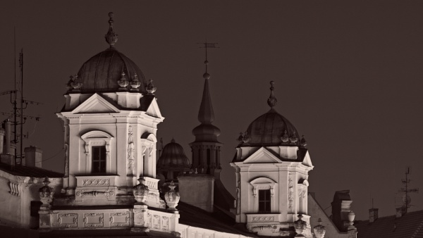 Roofs at Freedom Square Brno by konig