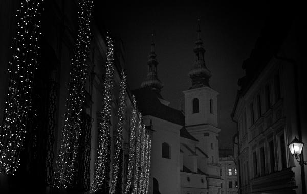 Dominikanska street Brno at Christmas by konig