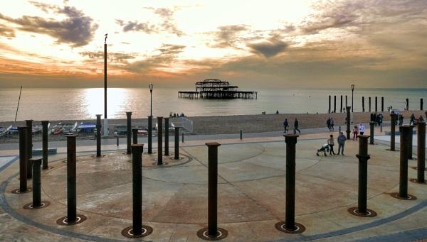 West Pier,  Brighton. by sandwedge