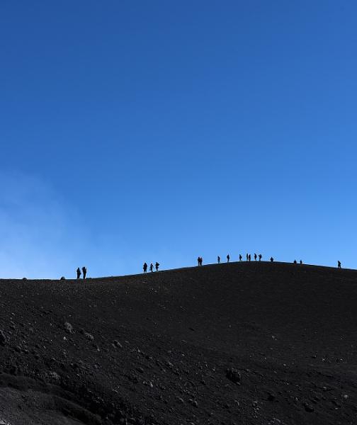 Figures On Mount Etna by AJG