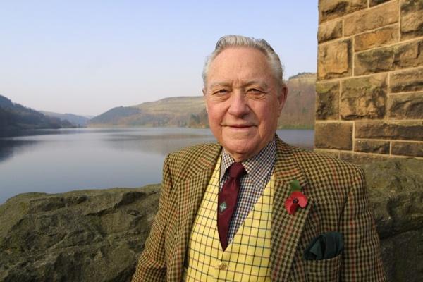 Richard Todd of Dambusters\' film visits Ladybower reservoir by philtaylorphoto