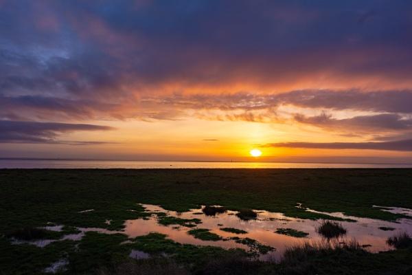 Sunset on the Fylde Coast. by TreefrogPhotography