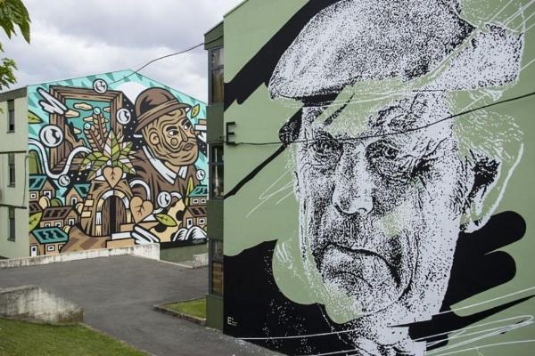 Vhils wall art. by Chinga