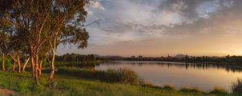 Summer lake, Tuggeranong, Canberra