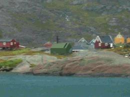 Prinz Christian Sound in the mist. Greenland
