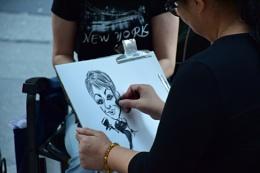 caricatur painting in New York