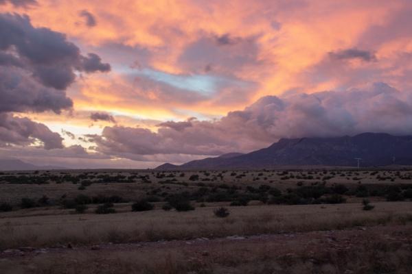 Sunrise over the Huachcuas by TBCorbin