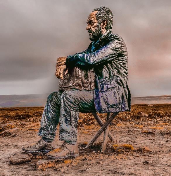 Seated Man II by alandeja