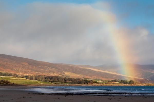 Rainbow over the Sutherland Coast by tonybridge