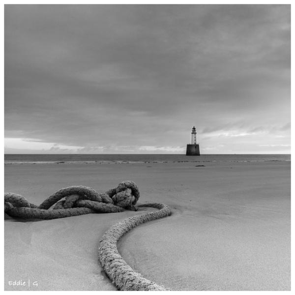 Rattary lighthouse BW by EddyG
