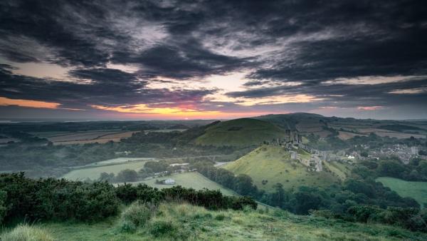 Sunrise over Corfe by true