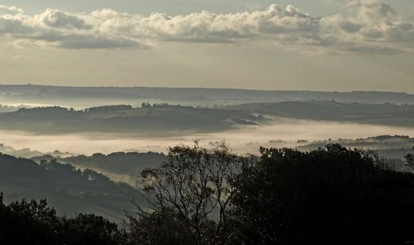 Dartmoor in the mist by JuBarney