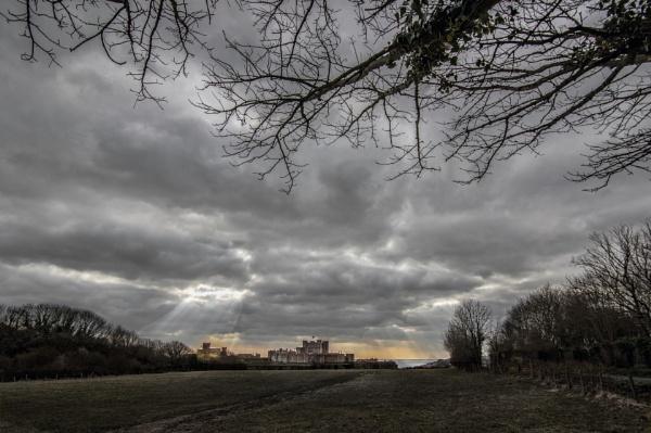 Distant Dover Castle by carper123