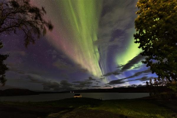 Aurora over the Lagarfljót river at Egilsstaðir, East Iceland by pdunstan_Greymoon