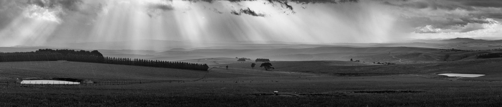 Blowing Rain over Palarang Road, Monaro Plains, New South Wales