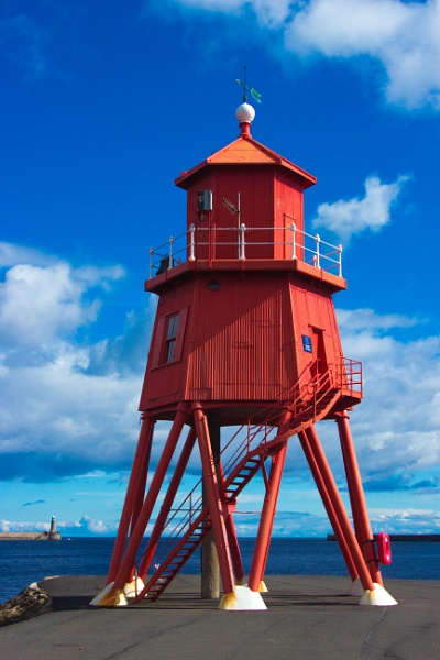 Herd Groyne lighthouse at South Shields