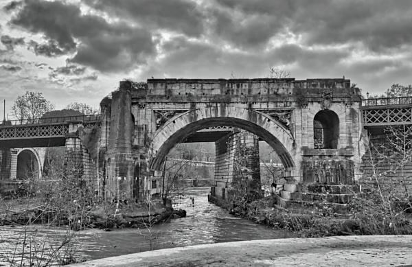 Broken bridge by amaphoteur