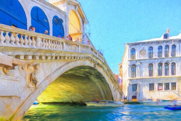 Painted Rialto Bridge by SueLeonard