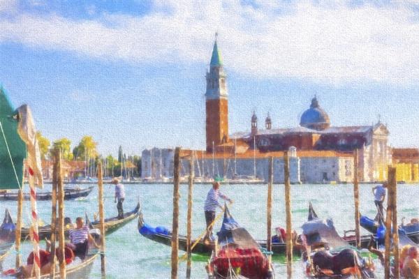 Watercolour Venice by SueLeonard